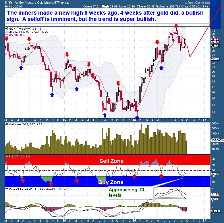 Gold Price Reversal GDX Weekly Chart - The Financial Tap